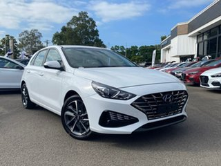 2021 Hyundai i30 PD.V4 MY21 Elite Polar White 6 Speed Automatic Hatchback.