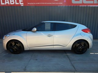 2014 Hyundai Veloster FS3 + Coupe D-CT Silver 6 Speed Sports Automatic Dual Clutch Hatchback.