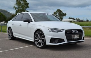 2019 Audi A4 B9 8W MY19 45 TFSI S Tronic Quattro S Line White 7 Speed Sports Automatic Dual Clutch.