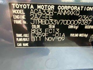2009 Toyota RAV4 ACA33R MY09 CV Metallic Blue 5 Speed Manual Wagon