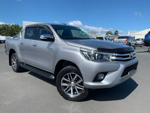 Used Toyota Hilux GUN126R SR5 Double Cab Moonah, 2016 Toyota Hilux GUN126R SR5 Double Cab Silver 6 Speed Sports Automatic Utility