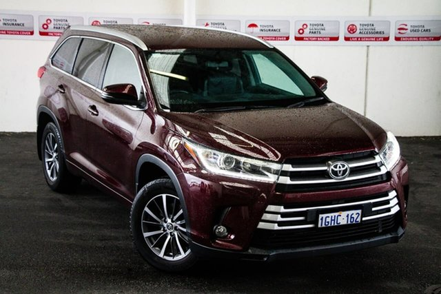 Pre-Owned Toyota Kluger GSU55R MY17 GXL (4x4) Myaree, 2017 Toyota Kluger GSU55R MY17 GXL (4x4) Deep Red 8 Speed Automatic Wagon