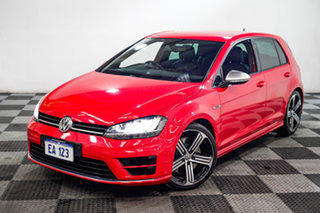 2016 Volkswagen Golf VII MY16 R DSG 4MOTION Red/Black 6 Speed Sports Automatic Dual Clutch Hatchback.