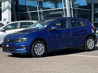 2020 Volkswagen Polo AW MY20 70TSI Trendline Blue 5 Speed Manual Hatchback.