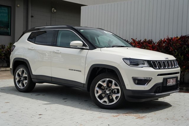 Used Jeep Compass M6 MY20 Limited Cairns, 2020 Jeep Compass M6 MY20 Limited Vocal White/le 9 Speed Automatic Wagon