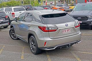 2016 Lexus RX GYL25R RX450h F Sport Silver 6 Speed Constant Variable Wagon Hybrid.