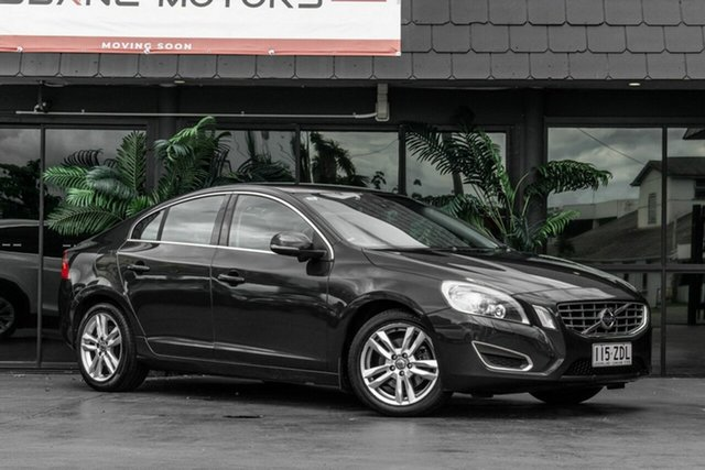 Used Volvo S60 F Series MY13 T4 PwrShift Teknik Bowen Hills, 2012 Volvo S60 F Series MY13 T4 PwrShift Teknik Grey 6 Speed Sports Automatic Dual Clutch Sedan