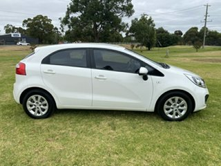 2014 Kia Rio UB MY15 S White 4 Speed Sports Automatic Hatchback