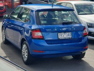 2019 Skoda Fabia NJ MY20 81TSI DSG Blue 7 Speed Sports Automatic Dual Clutch Hatchback