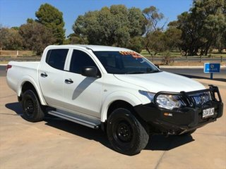 2015 Mitsubishi Triton MQ MY16 GLX Double Cab White 6 Speed Manual Utility.