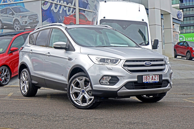 Used Ford Escape ZG Titanium Springwood, 2017 Ford Escape ZG Titanium Silver 6 Speed Sports Automatic SUV