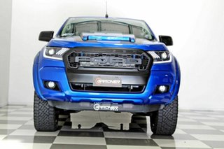 2017 Ford Ranger PX MkII MY18 XL 3.2 (4x4) Blue 6 Speed Automatic Crew Cab Utility
