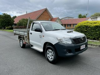 2012 Toyota Hilux KUN26R Workmate White 5 Speed Manual Single Cab.