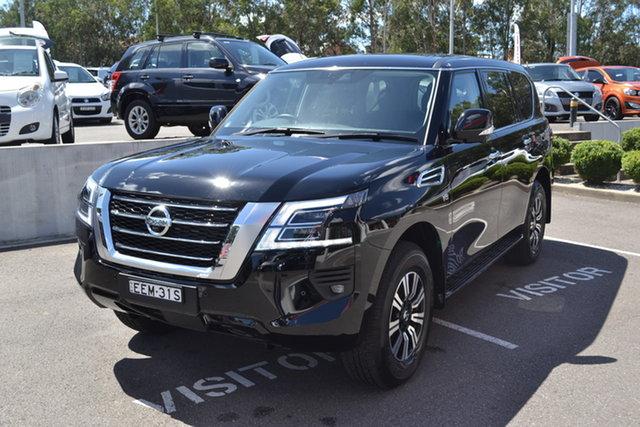 Used Nissan Patrol Y62 Series 5 MY20 TI Maitland, 2019 Nissan Patrol Y62 Series 5 MY20 TI Black 7 Speed Sports Automatic Wagon