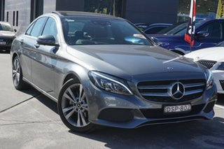 2017 Mercedes-Benz C-Class W205 807+057MY C200 9G-Tronic Grey 9 Speed Sports Automatic Sedan.