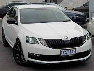 2019 Skoda Octavia NE MY20 Sport Sedan DSG 110TSI White 7 Speed Sports Automatic Dual Clutch.