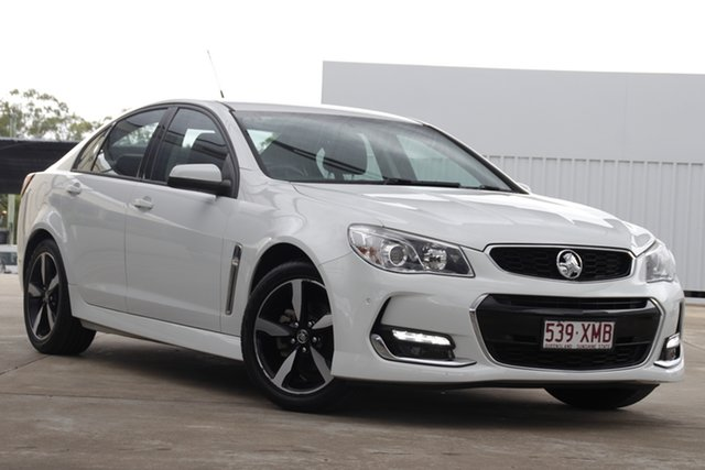 Used Holden Commodore VF II MY17 SV6 Bundamba, 2017 Holden Commodore VF II MY17 SV6 White 6 Speed Sports Automatic Sedan