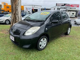 2008 Toyota Yaris NCP90R YR Black 4 Speed Automatic Hatchback.