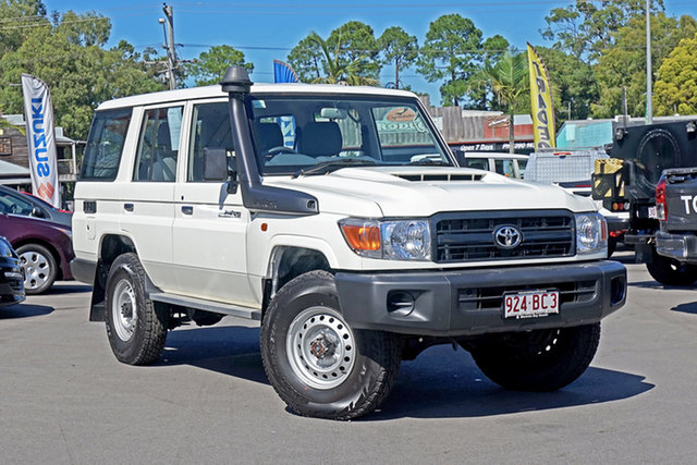 Used Toyota Landcruiser VDJ76R Workmate Chandler, 2020 Toyota Landcruiser VDJ76R Workmate White 5 Speed Manual Wagon