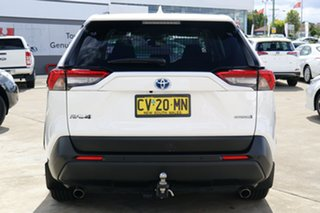 2019 Toyota RAV4 Axah54R GX eFour Glacier White 6 Speed Constant Variable Wagon Hybrid