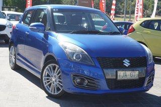 2012 Suzuki Swift FZ Sport Blue 6 Speed Manual Hatchback.