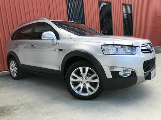 Used Holden Captiva CG Series II MY12 7 AWD LX Molendinar, 2012 Holden Captiva CG Series II MY12 7 AWD LX Silver 6 Speed Sports Automatic Wagon