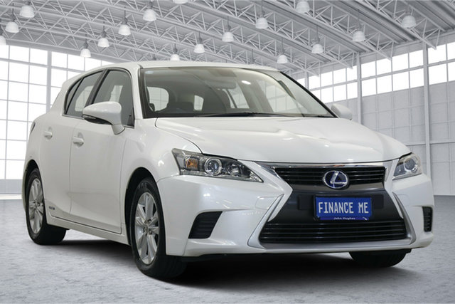 Used Lexus CT ZWA10R MY16 CT200h Luxury Victoria Park, 2016 Lexus CT ZWA10R MY16 CT200h Luxury White 1 Speed Constant Variable Hatchback Hybrid