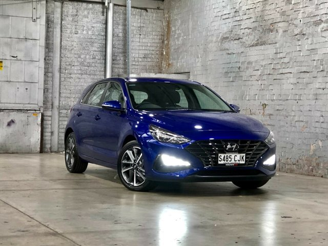 Used Hyundai i30 PD.V4 MY21 Active Mile End South, 2020 Hyundai i30 PD.V4 MY21 Active Blue 6 Speed Sports Automatic Hatchback