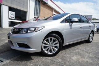 2014 Honda Civic 9th Gen Ser II MY14 VTi-L Silver 5 Speed Sports Automatic Sedan.
