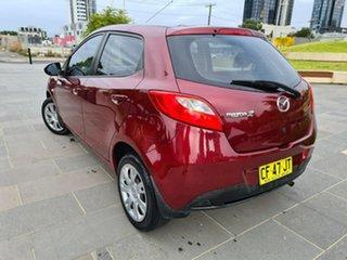 2011 Mazda 2 DE10Y1 MY11 Neo Burgundy 5 Speed Manual Hatchback