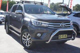 2015 Toyota Hilux GUN126R SR5 Double Cab Black 6 Speed Manual Utility.
