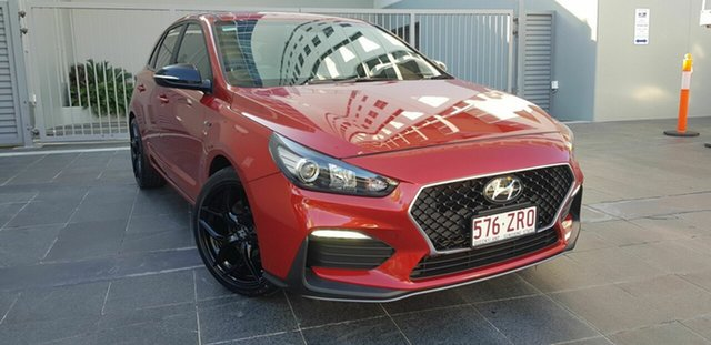 Used Hyundai i30 PD.V4 MY21 N Line Southport, 2020 Hyundai i30 PD.V4 MY21 N Line Red 7 Speed Auto Dual Clutch Hatchback