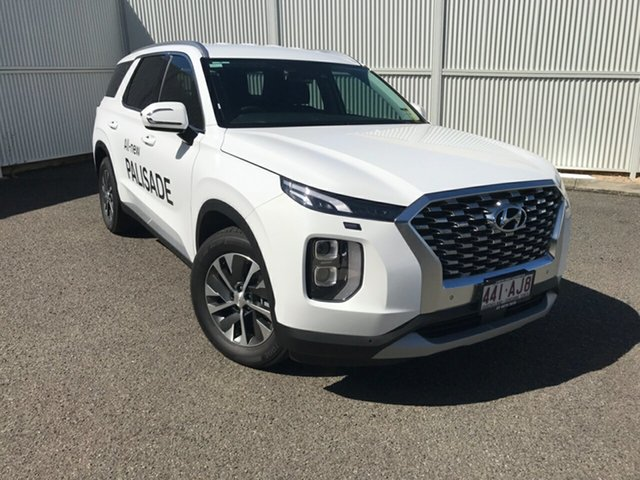 Demo Hyundai Palisade LX2.V1 MY21 AWD Gladstone, 2020 Hyundai Palisade LX2.V1 MY21 AWD White 8 Speed Sports Automatic Wagon