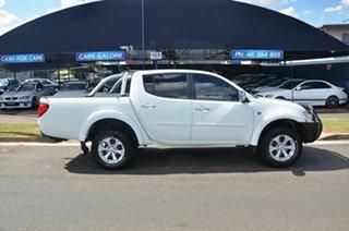 2013 Mitsubishi Triton MN MY13 GLX-R (4x4) White 5 Speed Automatic 4x4 Double Cab Utility.