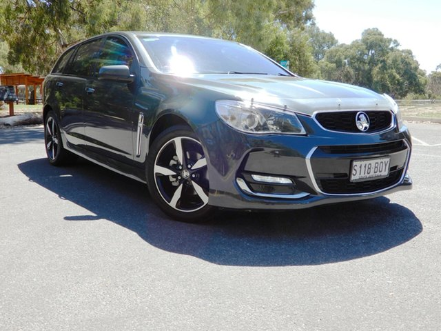 Used Holden Commodore VF II MY17 SV6 Sportwagon Glenelg, 2017 Holden Commodore VF II MY17 SV6 Sportwagon Dark Grey 6 Speed Sports Automatic Wagon