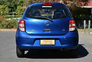 2014 Nissan Micra K13 MY13 ST Blue 5 Speed Manual Hatchback