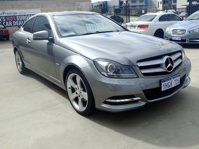 Used Mercedes-Benz C250 W204 MY11 CDI BE Wangara, 2011 Mercedes-Benz C250 W204 MY11 CDI BE Adventurine Silver 7 Speed Automatic G-Tronic Coupe