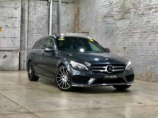 2015 Mercedes-Benz C-Class S205 806MY C250 Estate 7G-Tronic + Grey 7 Speed Sports Automatic Wagon.