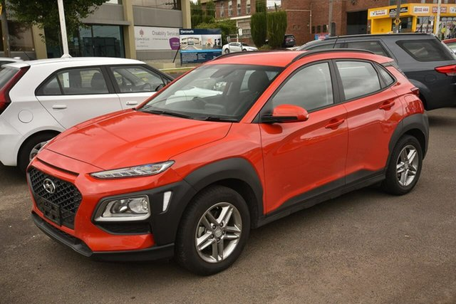 Used Hyundai Kona OS.3 MY20 Active 2WD Nunawading, 2020 Hyundai Kona OS.3 MY20 Active 2WD Orange 6 Speed Sports Automatic Wagon