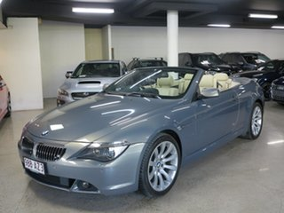 2006 BMW 6 Series E64 650i Steptronic Grey 6 Speed Sports Automatic Convertible.