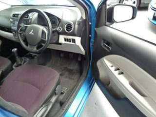 2013 Mitsubishi Mirage LA MY14 LS Blue 5 Speed Manual Hatchback