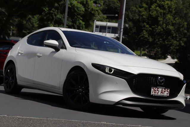 Demo Mazda 3 BP2HHA X20 SKYACTIV-Drive Astina Newstead, 2020 Mazda 3 BP2HHA X20 SKYACTIV-Drive Astina Snowflake White 6 Speed Sports Automatic Hatchback