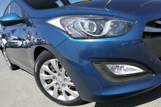 2014 Hyundai i30 GD2 Active Dazzling Blue 6 Speed Sports Automatic Hatchback.