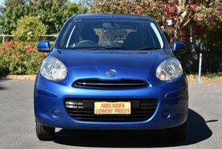 2014 Nissan Micra K13 MY13 ST Blue 5 Speed Manual Hatchback.