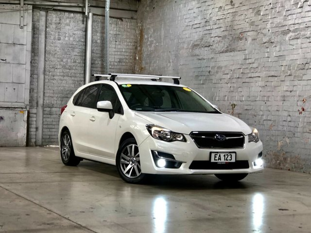 Used Subaru Impreza G4 MY14 2.0i-L Lineartronic AWD Mile End South, 2015 Subaru Impreza G4 MY14 2.0i-L Lineartronic AWD White 6 Speed Constant Variable Hatchback
