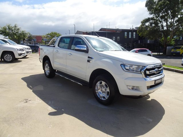 Used Ford Ranger PX MkII XLT Double Cab Nowra, 2016 Ford Ranger PX MkII XLT Double Cab Cool White 6 Speed Automatic Utility