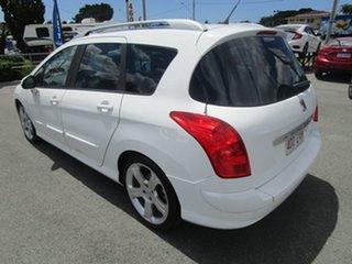2010 Peugeot 308 T7 Sportium Touring White 6 Speed Sports Automatic Wagon.