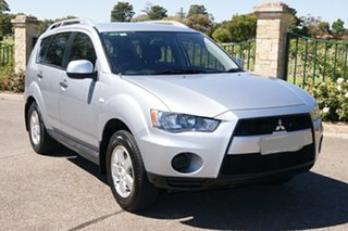 2009 Mitsubishi Outlander ZH MY10 LS Silver 6 Speed CVT Auto Sequential Wagon.