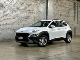 2020 Hyundai Kona Os.v4 MY21 2WD White 8 Speed Constant Variable Wagon.