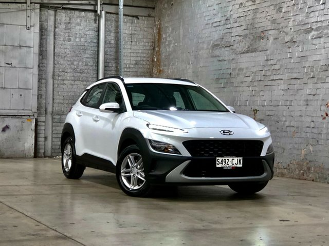 Used Hyundai Kona Os.v4 MY21 2WD Mile End South, 2020 Hyundai Kona Os.v4 MY21 2WD White 8 Speed Constant Variable Wagon